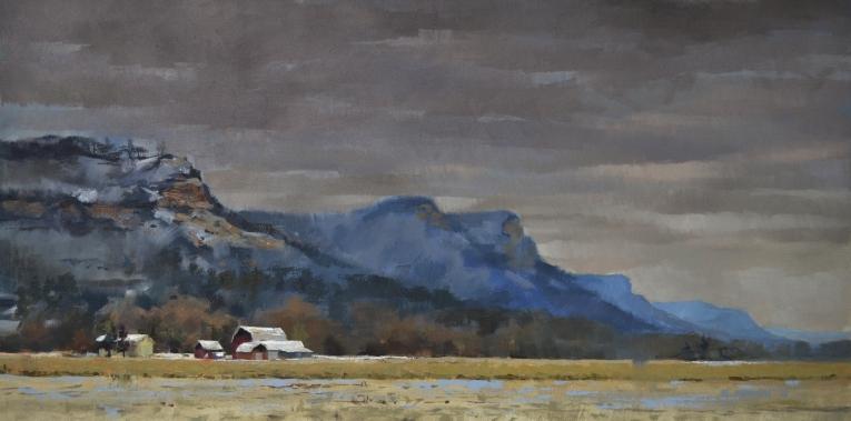 Last Snow Below the Bluffs -Sold