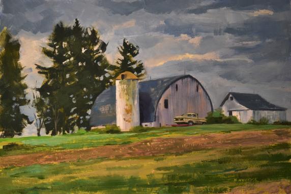 Shining Farm on the Hill $350